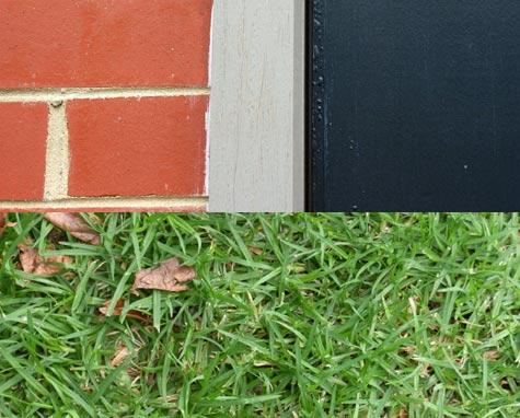 Bricks Paint and Grass