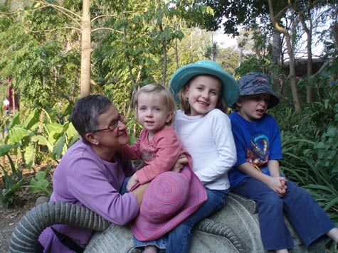 Kids and Grandma at the Zoo
