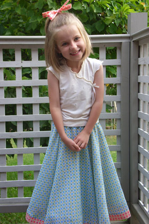 Amelia in Rock and Roll skirt