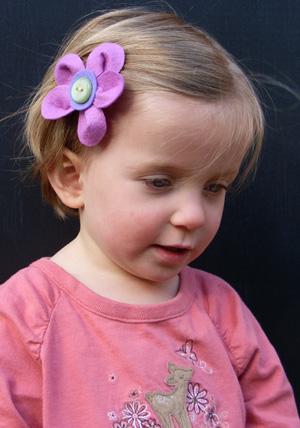 Michaela wearing Maddison\'s clip