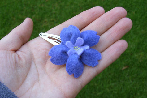 New Felt Flower Hairclip 2