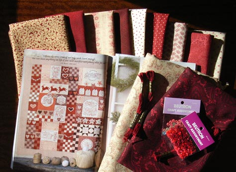 Bronwyn Hayes Redwork Christmas Quilt