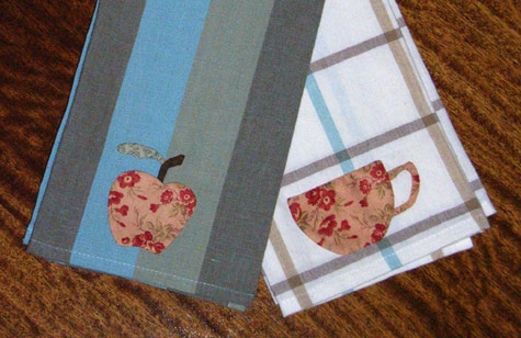 Tea Cup and Apple Teatowels