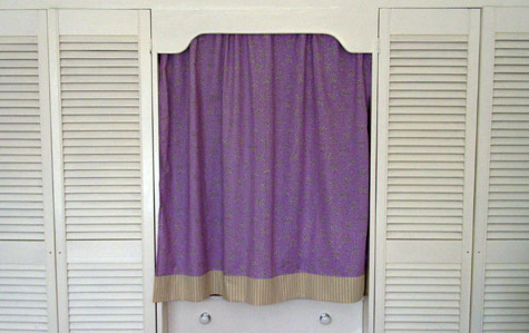 Wardrobe Curtain over Dressing Table Space
