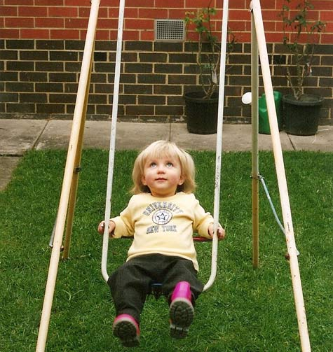 Amelia on the swing