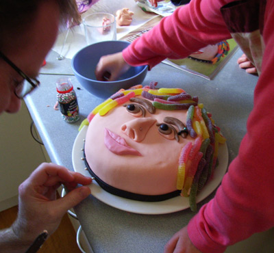 Making the Rock Star Cake