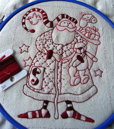 Father Christmas Stitchery