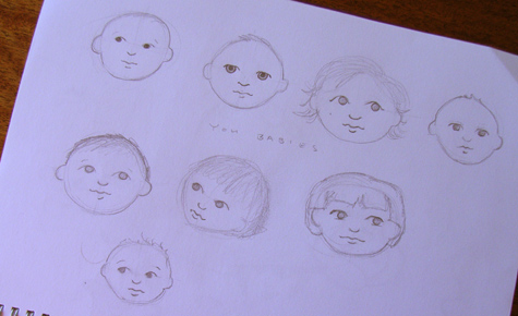 Sketches of Baby Faces