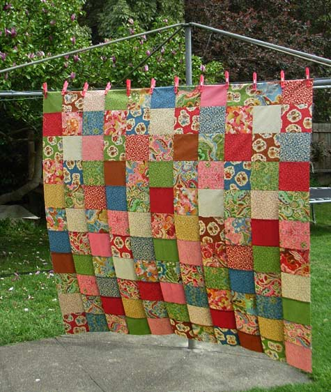 From Layer Cake to Quilt Top Matching Pegs