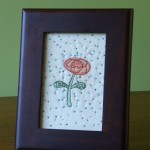 Thank-you Flower stitchery