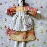 "Cloth Dolly for the Teacher with ""Thank-you Ms Silverii"" on Apron"