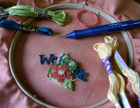 Learn to punchneedle
