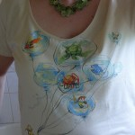 Altering a t-shirt neckline