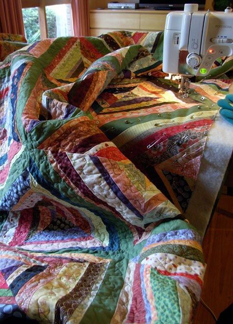 Quilting the String Quilt