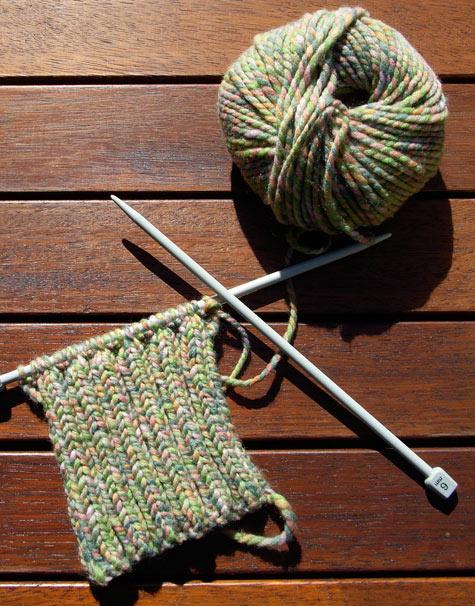 2 x rib knitting - arm warmers