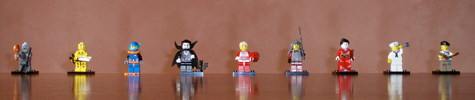 collection of lego minifigures