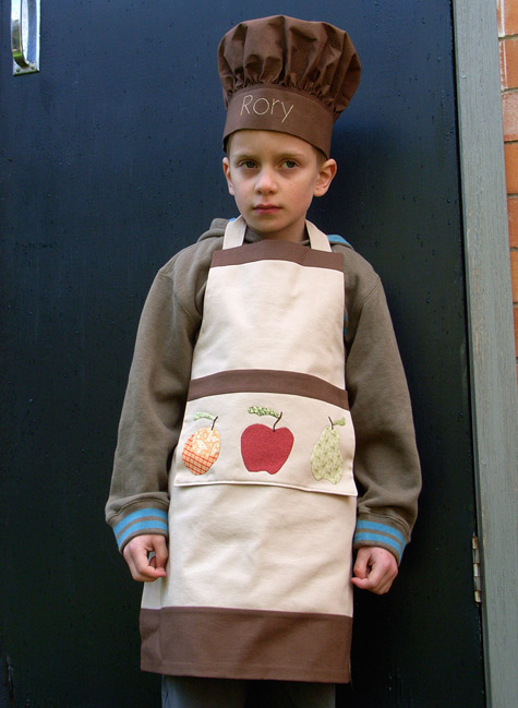 Apron with Fruit Applique