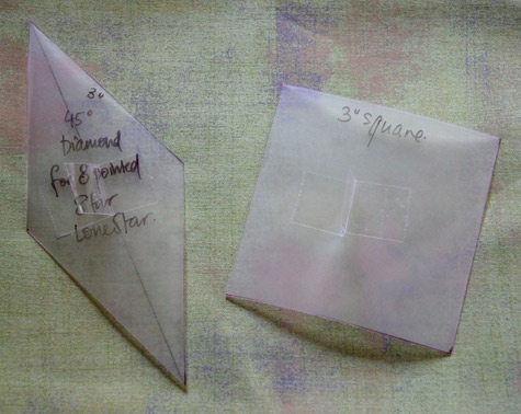 home made templates - made from translucent dividers for documents