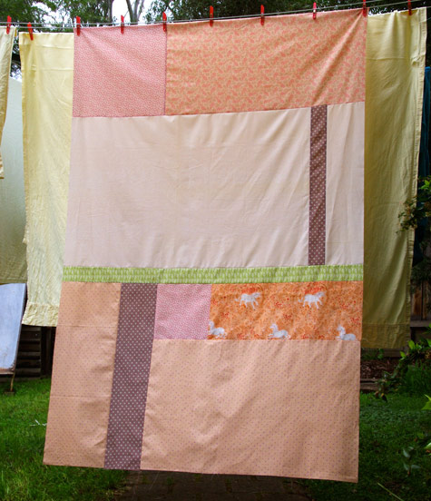 A Simple Quilt - A Background for some Applique