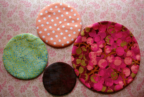 "Applique circles, or ""bubbles"" ready to applique onto my quilt"