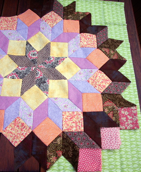 """Wheel of Fortune"" Quilt in Progress (Designed by Kaffe Fasset)"
