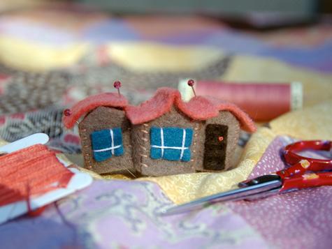 Tiny Felt House - a work in progress