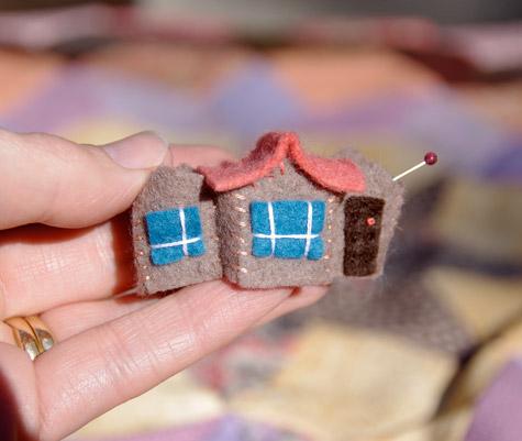 Tiny Felt House - Under Construction
