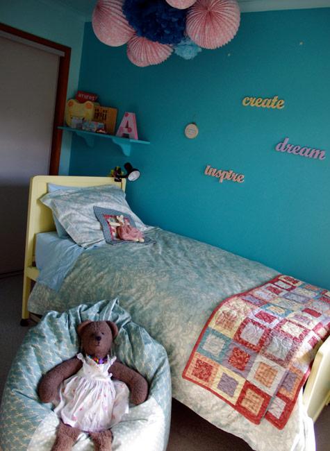 Amelia's Beanbag in her bedroom