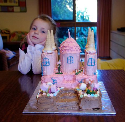 Fairy Castle Birthday Cake
