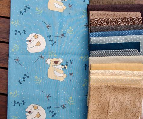 Koala fabrics with coordinates