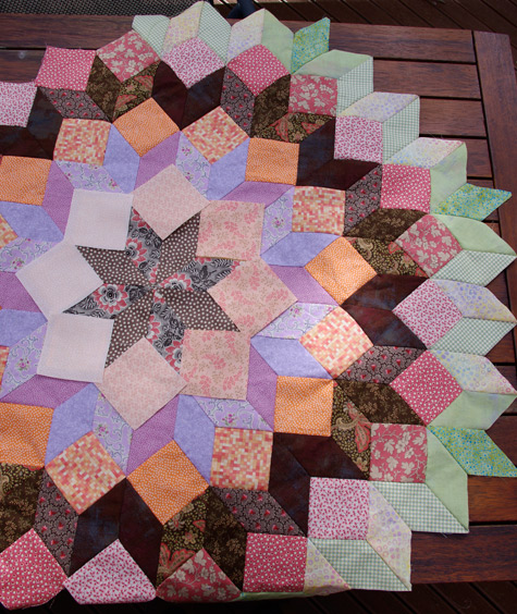 Auditioning fabric squares