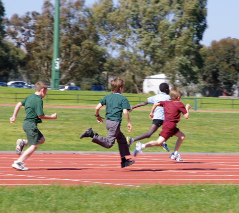 100m sprint 3