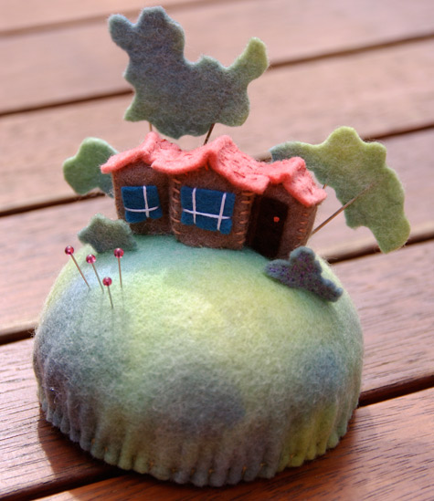 Tiny House Pincushion