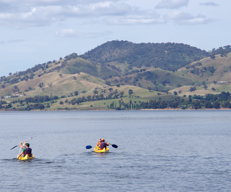 Lake Hume, Victoria, Australia - with Canoes