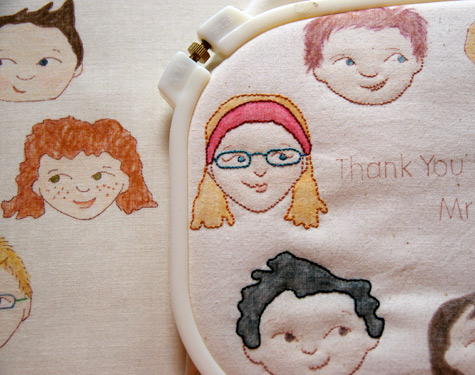 Thanks you to the Teacher - Embroidery WIP