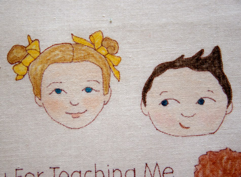 Thanks you to the Teacher - Embroidery WIP 2
