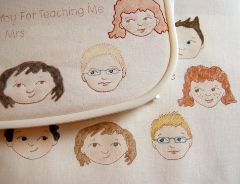 Thanks you to the Teacher - Embroidery WIP 3