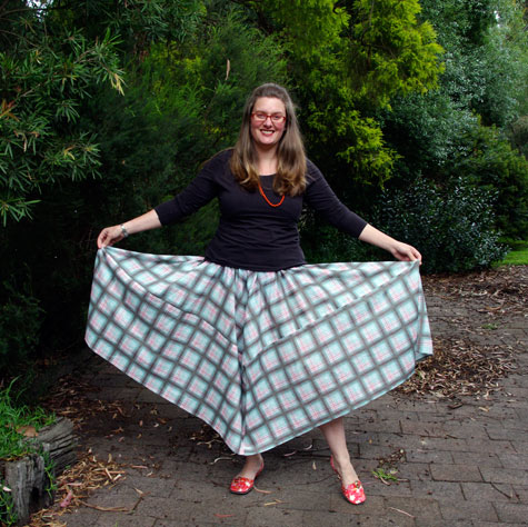 "Opposite Corners of the ""Tablecloth Skirt"""