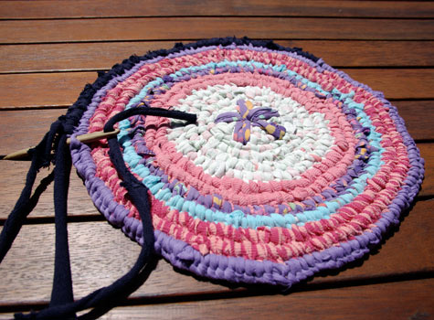 Toothbrush Rug in Progress