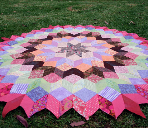 """Wheel of Fortune"" Hand Pieced Quilt"