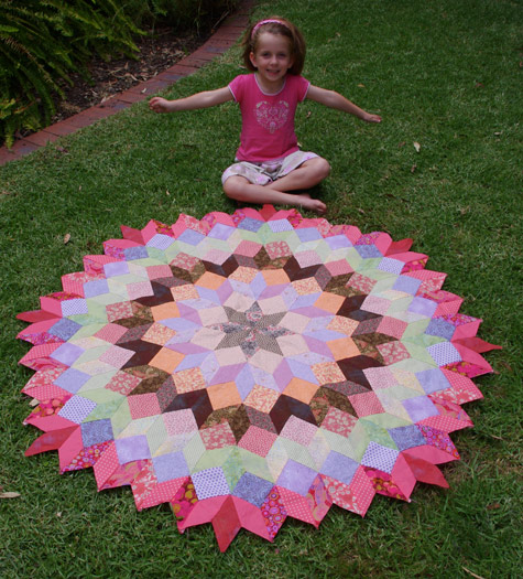 Michaela and the Wheel of Fortune Quilt
