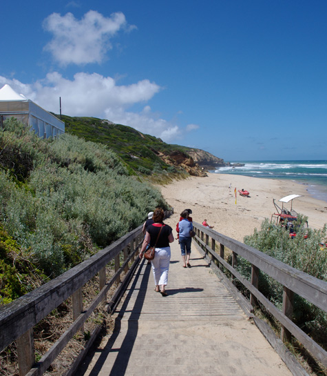 The Ramp down to Sorrento Ocean Beach (Vic)