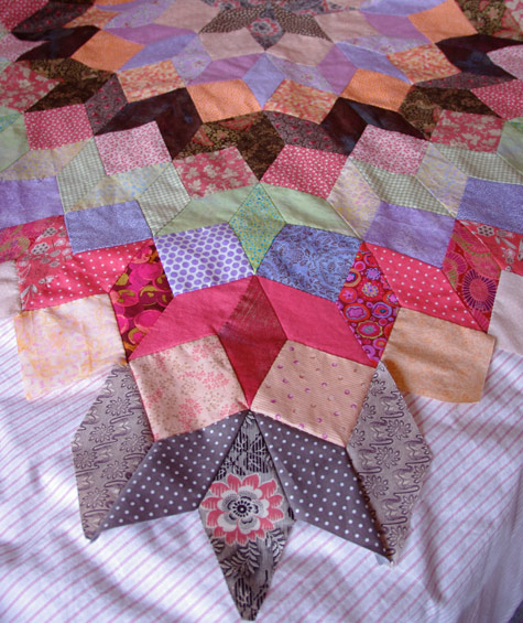 Another ring started on the Wheel Of Fortune Quilt