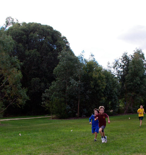 Rory in the cross country race