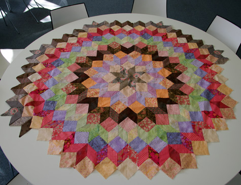 """Wheel of Fortune"" Quilt WIP"