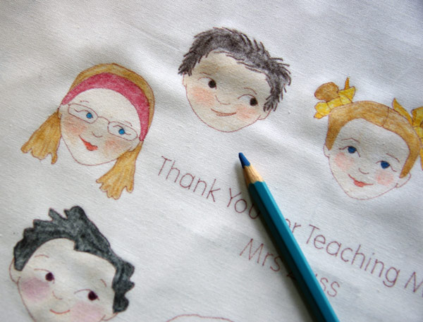 Thank-You for the Teacher Stitchery being prepared