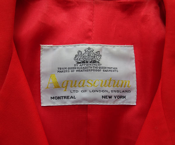 Royal Warrant on a Aquascutum Coat