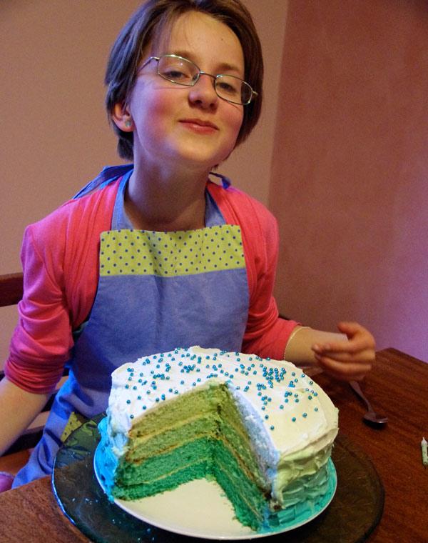 Amelia's Aqua Ombre Cake