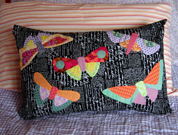 """All A Flutter"" by Matching Pegs with Bleck Text Fabric"