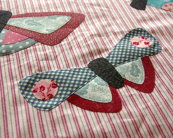 "Quick fusible machine raw-edge applique ""All A Flutter"" by Matching Pegs"